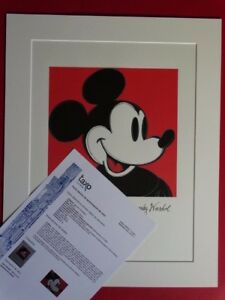 ANDY WARHOL Mickey Mouse SIGNED AND HAND NUMBERED LITHOGRAPH $190.00