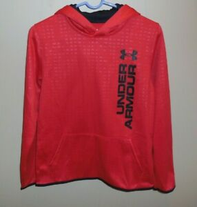 Under Armour Boys Hoodie Youth XL Sweatshirt Red Black New $29.95