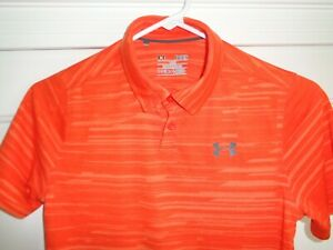 Under Armour Loose Heat Gear Youth Large Golf Polo Shirt Fantastic! $5.99