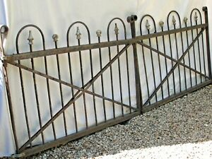 Antique Pair 8quot; 4quot; Iron Victorian Garden Gates $895.00