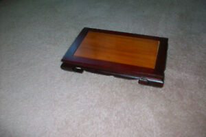Vintage Decorative Wooden Stand......ornate.....for display..Two toned $28.95