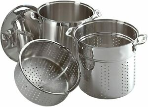 All-Clad E796S364 Specialty Stainless Steel Dishwasher Safe 12-Quart Multi