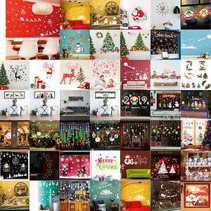 Merry Christmas Vinyl Art Home Window Shop Wall Stickers Decals Decor Removable