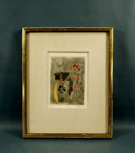 JOHNNY FRIEDLAENDER Abstract Color Etching Aquatint Pencil Signed Numbered $81.00
