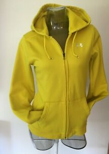 UNDER ARMOUR Women's Full Zip Long Sleeve Logo Hoodie Sweatshirt Top Yellow M $12.99