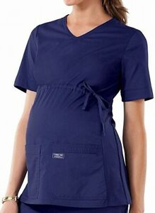 Cherokee Womens Scrub Sets Classic Navy Blue Size XS Knit Maternity $59 149