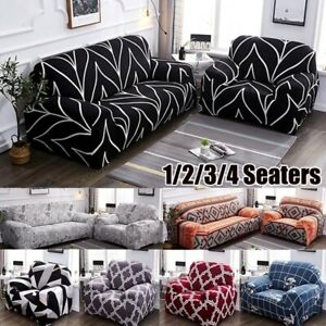 1 4 Seaters L Shape Universal Sofa Covers Stretch Furniture Protector Slipcovers
