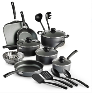 Tramontina Primaware 18 Piece Non stick Cookware Set Steel Gray