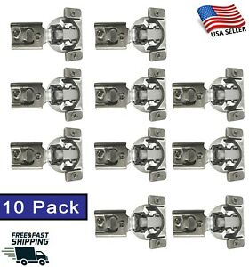 10 Pack Soft Closing Compact 1 2 Overlay 105° Hinge Kitchen Cabinet Hardware