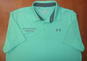 Under Armour Winning Drive Super Yacht Playoff Vented Golf Polo Shirt L NEW $9.99