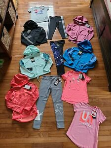 Under Armour Nike Adidas clothing Youth Girls size Small YSM 7 8 lot of 8 NWT $159.99