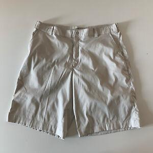 Nike Golf Tour Performance Dri Fit Khaki Chino Flat Front Shorts Men's Size 36 $15.19