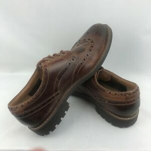 Clarks Oxfords Wingtips Patina Brown Leather 21951 Shoes Mens Size12 $39.95