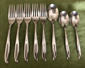 Set 8 International TRADEWINDS-JAMAICA Stainless Steel 5 DINNER FORKS 2 TEASPOON