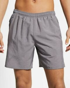 Nike Men's Challenger 7 Running Shorts Grey XL New NWT $32.99