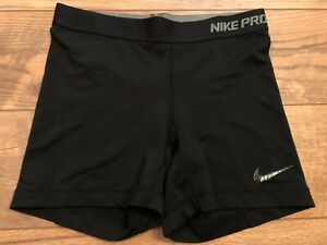 NIKE driFIT Pro Fitted Black Yoga crossFIT Athletic Running Shorts womens Small $2.24