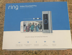 Ring Video Doorbell Pro 1080P WiFi Wired Smart HD Camera, 100 % BRAND NEW