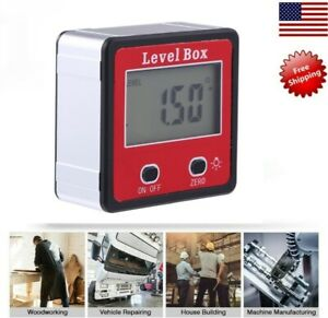 Digital LCD Inclinometer Spirit Level Box Protractor Angle Finder Gauge Meter US $13.88