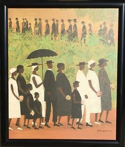Lithograph on Canvas ELLIS WILSON TURNING POINT THE HARLEM RENAISSANCE Funeral $60.00