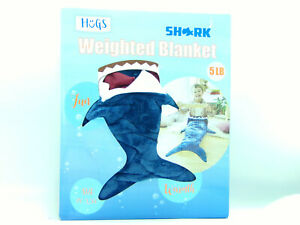 NEW Blue Shark Weighted Kids Blanket 5 Pound Stress Anxiety Blanket Comfort
