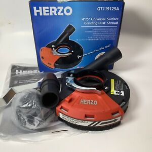 HERZO Universal Surface Grinding Dust Shroud for Angle Grinder 5-inch