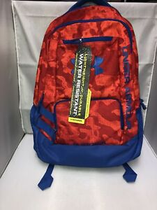 New Under Armour Storm UA Hustle Backpack Red Blue $35.00