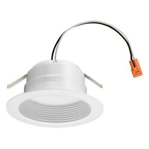 Lithonia Lighting E-Series 4 in. 3000K Soft White Integrated LED Recessed Trim