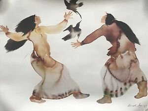 Carol Grigg Learning the Song Cherokee Lithograph Signed Art Print $25.00