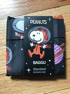 New W tags Baggu Nylon Reusable Tote Bag In Space Snoopy Print Std Size