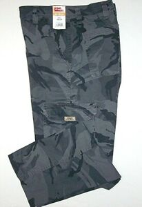 Mens Wrangler Camo Flex Cargo Pants Relaxed Fit Tech Pocket Camouflage ALL SIZES