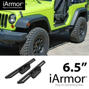 iArmor 6.5quot; Drop Steps Side Armor Square for 07 18 Jeep Wrangler JK 2Dr $220.00