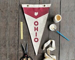 Ohio State Vintage Inspired Canvas Pennant