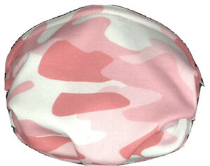 Camouflage Pink Peach Peach Face Mask Triple Layer Double Wire Full Fitted