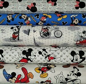DISNEY PIXAR Mickey Minnie amp; more PICK PRINT Cotton Fabric by the 1 4 YARD
