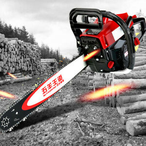 62cc Chainsaw 20quot; Bar Gasoline Powered Chain Saw Engine 2 Cycle Cutting 4000W US $99.99