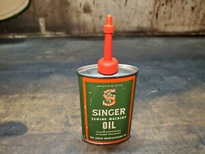 Antique Singer Sewing Machine Oil Can Manufacturing Advertising 3 Ounce Size $25.00