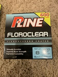 P line Clear Floroclear Fluorocarbon Fishing 8lb 600 yd
