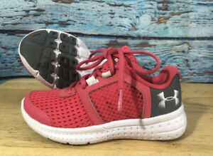 Baby Toddler UNDER ARMOUR Shoes Size 11Y Pink And White $24.99