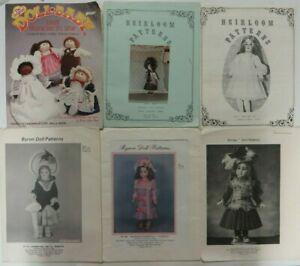 Vtg Lot DOLL PATTERNS Bryon Antique Reproductions Heirloom Original Doll Baby $14.99