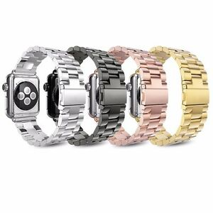 Metal Strap For Apple Watch Series 6 5 4 3 2 38 44mm Stainless Steel iWatch Band $11.99