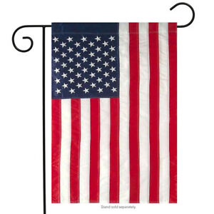 Applique amp; Embroidered American Flag Garden Flag 12.5quot; x 18quot;