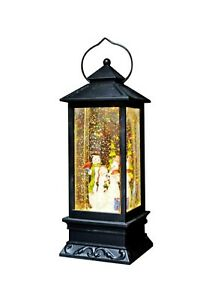 Illuminated Holiday Water Lantern with Timer by Lori Greiner Snowman A