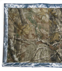Carstens Baby Blanket Camo Camouflage Satin Edge Boys Cabelas Hunting 32quot; NEW L3
