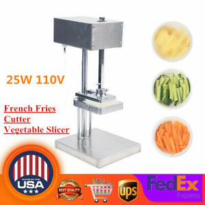 Commercial Electric Potato French Fries Cutter Vegetable Slicer Machine 3 Blades