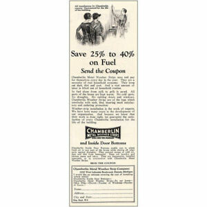 1925 Chamberlin Metal Weather Strips: Save and Pay Vintage Print Ad $6.50