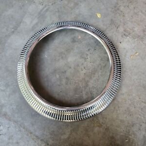 Vintage 1940s Ford Beauty Trim Ring Wheel Lowrider Bomb Ford Accessory Flathead $129.99