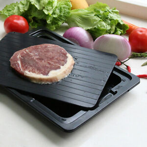 0.2cm Thick Rapid Thaw Fast Defrosting Tray Plate Board Safest Way Defrost Meat