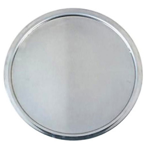 18 Gauge Aluminum Standard Weight Wide Rim Pizza Pan 16 Inch Silver