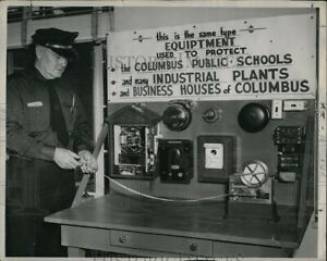 1949 Photo Fire Department Alarm Exhibit 10X8
