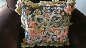 Brand New Floral Aubusson Pillow COVER